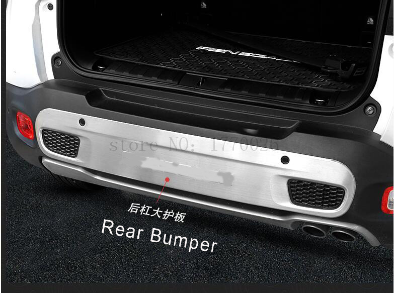 Auto Car Rear Bumper Board Guard Skid Plate Protector Stainless Steel Fit For Jeep Renegade 1.4T 2015 16 for hyundai new tucson 2015 2016 2017 stainless steel skid plate bumper protector bull bar 1 or 2pcs set quality supplier