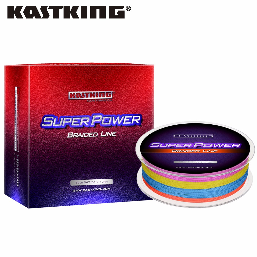Kastking multicolor 500m strong pe braided fishing line 10 for Best braided fishing line saltwater