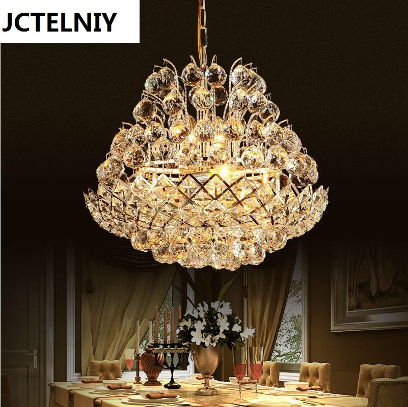 Fashion crystal pendant light restaurant lamp living room pendant light bedroom lamps modern brief led crystal lighting modern crystal lamp round shape led pendant light for bedroom living room lighting