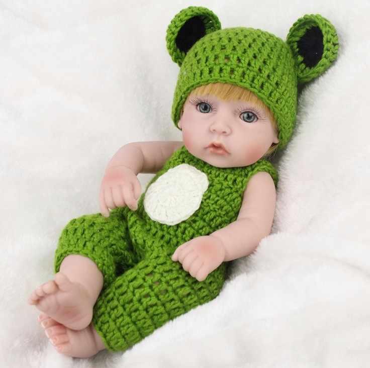 11 Pollici 28 cm Reale in cerca di Bambole Del Bambino Rinato Bambola In Silicone Morbido Bebe Ragazze Neonati Di Natale Regalo Di Compleanno