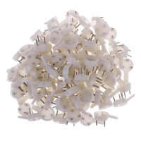 100 Pcs White Painting Photo Frame Hook Plastic Invisible Wall Hooks Mount Photo Picture Nail Hook Mirror Hanging Hanger Craft