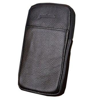 ¡Novedad! riñonera Vintage de cuero para hombre, riñonera de viaje, carcasa para móvil, funda para cinturón, bolso de alta calidad