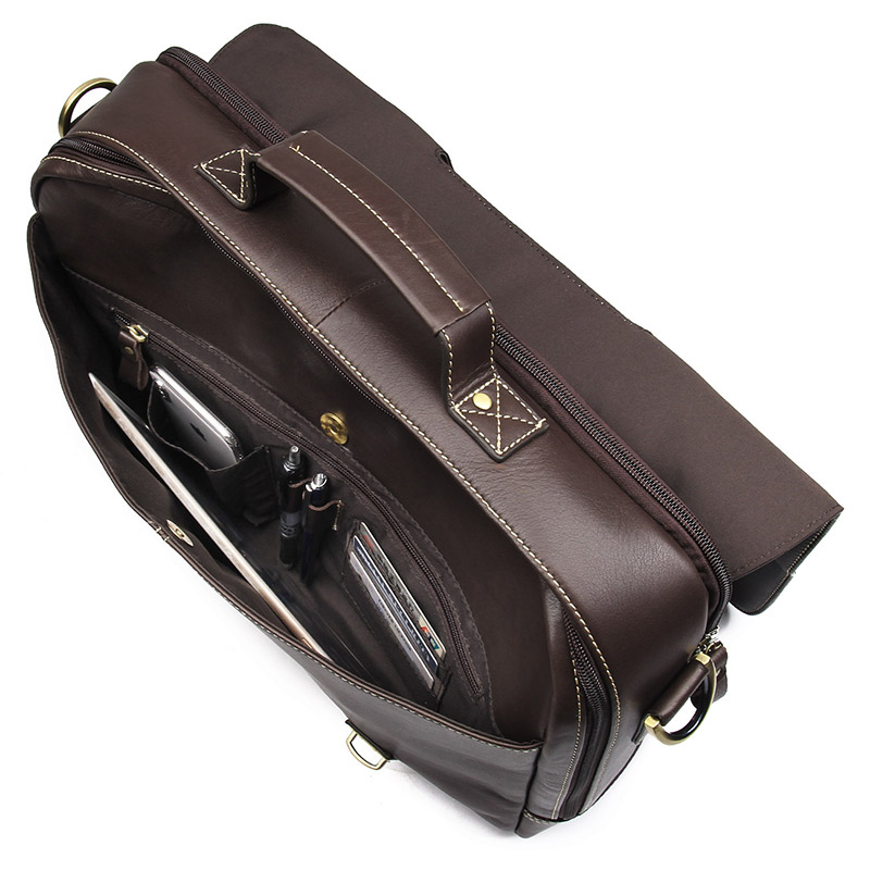J M D Simple Famous Brand Business Men Briefcase Bag Luxury Leather Laptop Bag Man Shoulder Bag 7396Q in Briefcases from Luggage Bags