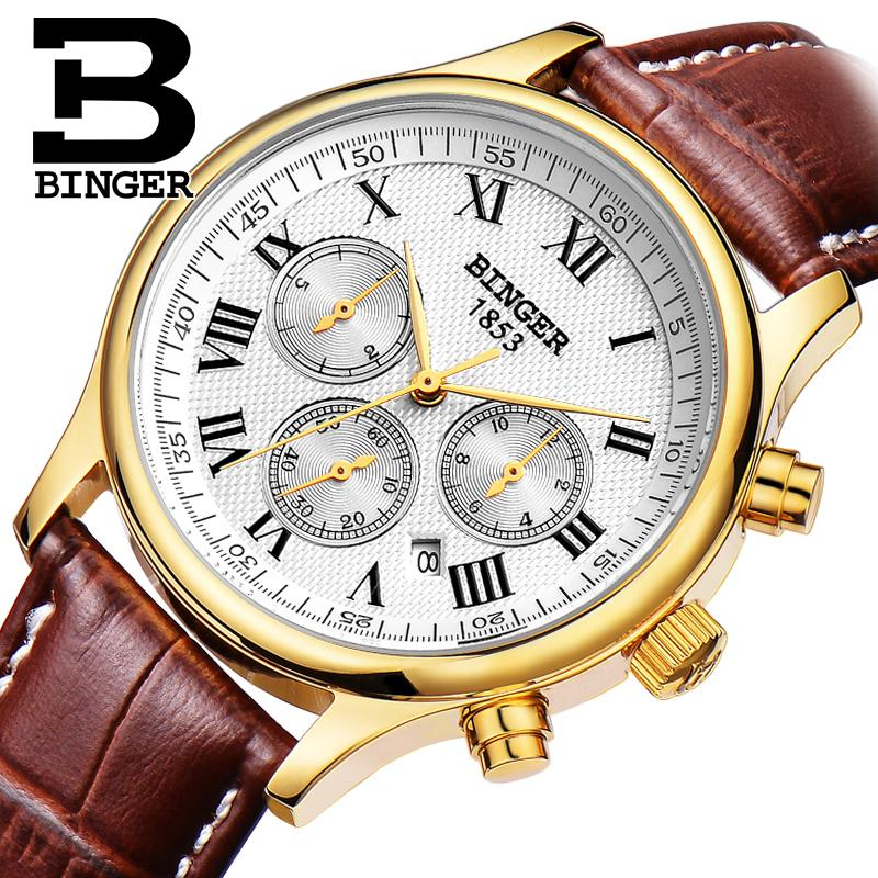 Mens Watches Top Brand Luxury Military Switzerland Automatic Mechanical Men Watch Waterproof Reloj Hombre Wrist Sapphire B6036 switzerland men watch automatic mechanical binger luxury brand wrist reloj hombre men watches stainless steel sapphire b 5067m