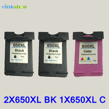 3pcs For HP 650 650XL Black&Tri-color Compatible Ink Cartridge For HP Deskjet 1015 1515 2515 2545 2645 3515 4645 Ink Printer  цена 2017