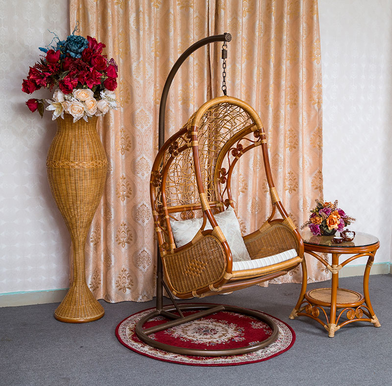 Cheap Wicker Chair: Cheap Casual Single Wicker Chair Swing Hanging Indoor And
