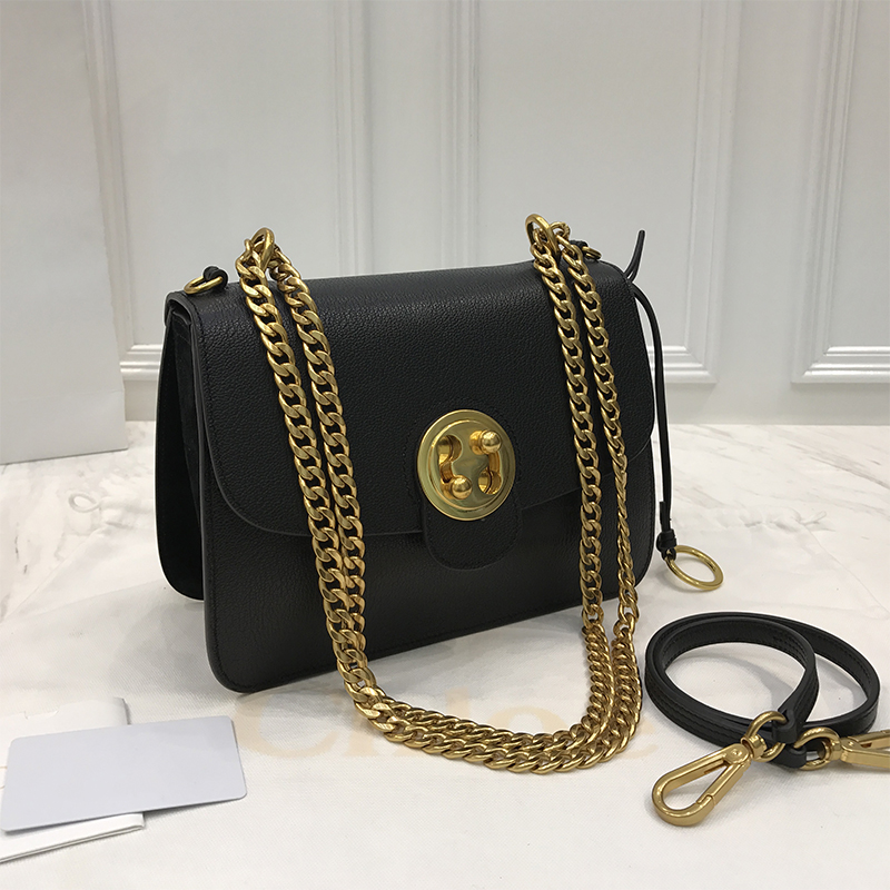 ФОТО High quality genuine leather women classic small solid color flap chain bag first layer of cowhid mini all match shoulder bag