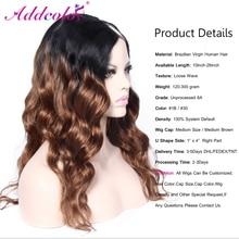 Ombre #1B/#30 Virgin Brazilian U Part Wig Remy Virgin Hair 20Inch 1*4 Right Part Loose Wave Accept Custom