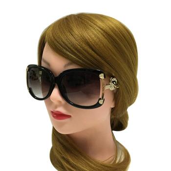 Okulary przeciwsłoneczne damskie luksusowy gatunku projektanta panie oprawki ze stopu złota lisa dekoracji okulary dziewczyny 4 kolory tanie i dobre opinie ETHAN Okład Dla dorosłych WOMEN UV400 Z tworzywa sztucznego SGS5658 56MM 55MM UV400 Protect Glasses Case 18MM 132MM Metal Hinges