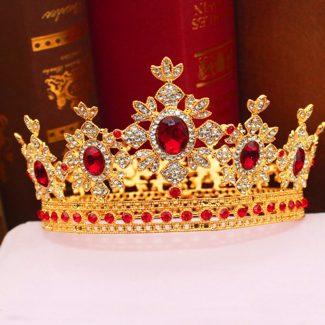 Royal Queen Wedding Bridal Tiaras and Crowns Bride Women Prom Crystal Headpiece Pageant Hair Ornaments Head Jewelry Accessories