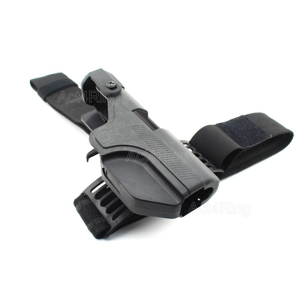 Tactical auto carga holster Nivel 3 bloqueo gota muslo de la pierna ...