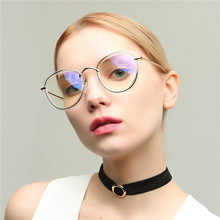 Noenname_null New Womens Sunglasses, Cats Eye Flat Mirror, Transparent Metal Decorative Glass Frame, 2019 Free Shipping