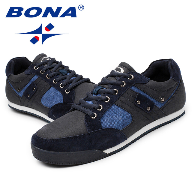 BONA New Arrival Typical Style Men Skateboarding Shoes Suede Men Athletic Shoes Lace Up Men Outdoor Jogging Sneakers