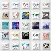 Elife Retro Map Linen cotton Polyester cushion case Polyester Home Decor Bedroom Decorative Sofa Car Throw Pillows 45*45CM