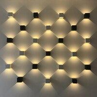 Waterproof a decoração da casa 2 w 4 w 6 w 12 w 85 cob 265 v cob conduziu a lâmpada de parede interior exterior estilo simples luzes de parede para o quarto corredor varanda
