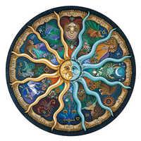 Paesaggio di puzzle 500 Pezzi Zodiaco Oroscopo Puzzle Di Giocattoli di Raccolta FAI DA TE Costellazione di Puzzle di Carta Puzzle di decorazione della casa