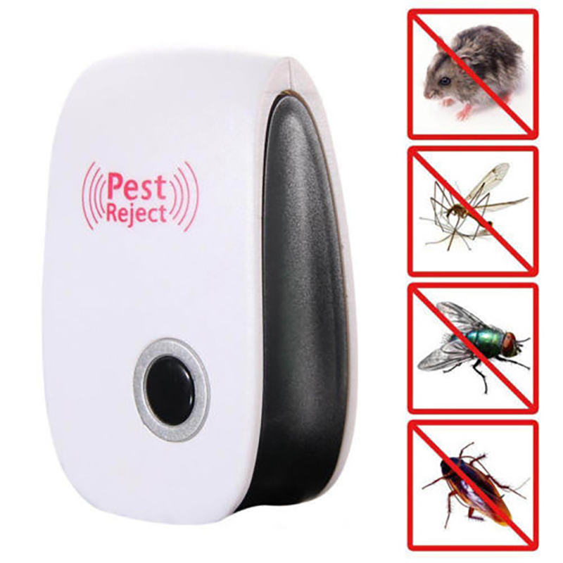 Electronic Cat Ultrasonic Anti Mosquito Insect Repeller Rat Mouse Cockroach Pest Reject Repellent EU/US Plug