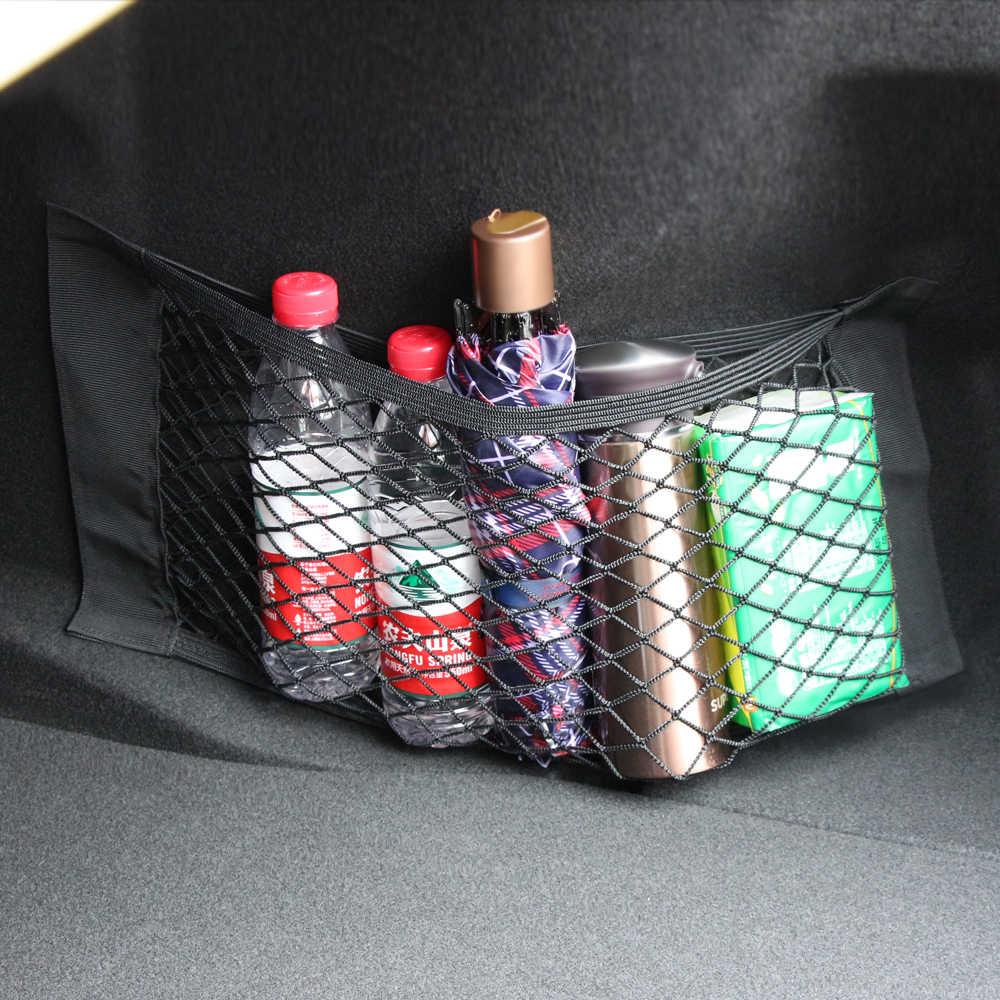 50x25 см, сумка для хранения БАГАЖНИКА АВТОМОБИЛЯ, эластичная Сетчатая Сумка, автомобильный держатель для клейкой ленты, карманный органайзер, аксессуары для автомобиля