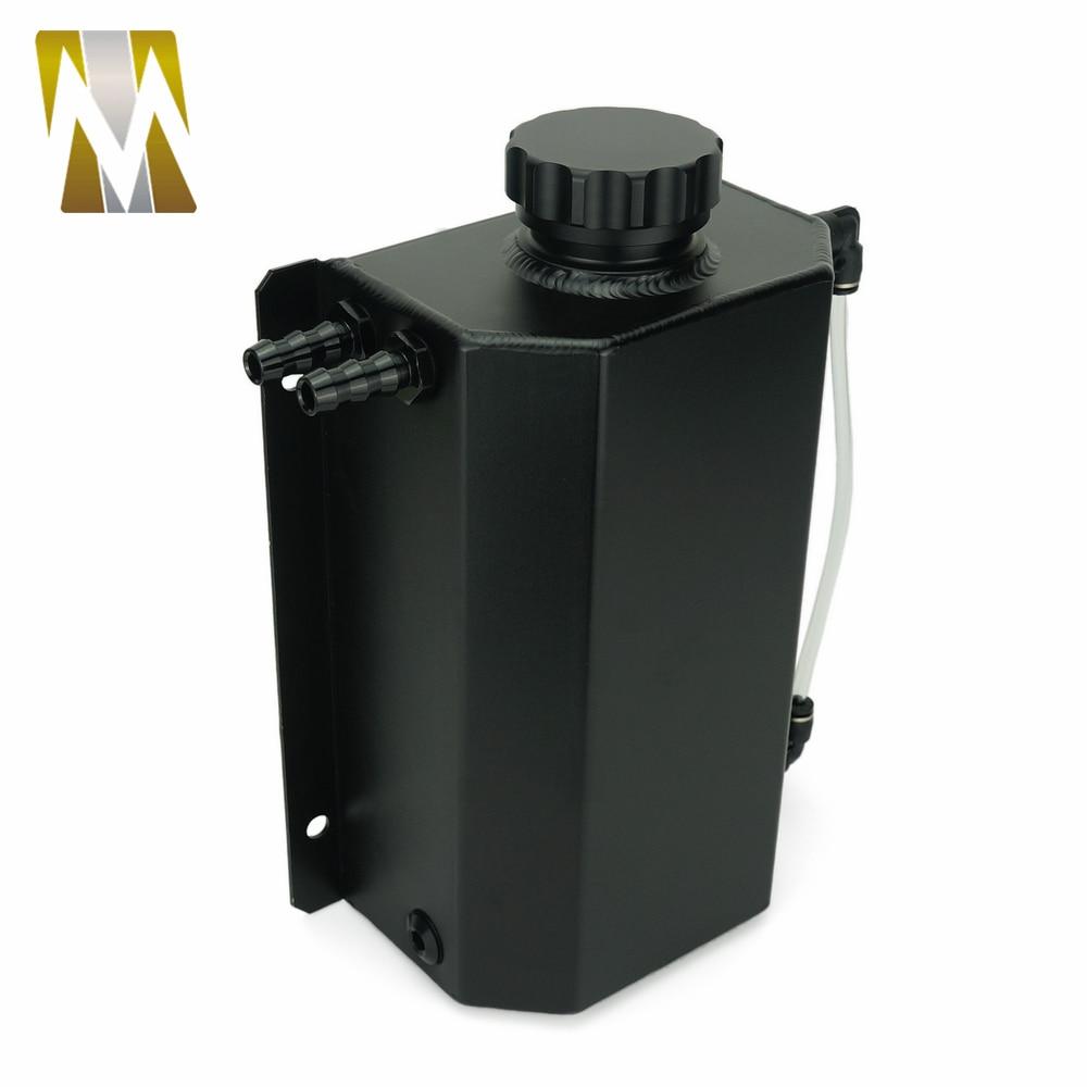 Autoleader 2L bouchon Aluminium réservoir collecteur d'eau liquide de refroidissement radiateur trop plein coffre bidon réservoir Kit de récupération liquide de refroidissement réservoir d'eau - 4