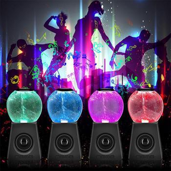 Kuulee Wireless Bluetooth Speaker LED Night Light Tornado Waterdance Subwoofer Portable Speaker Free Shipping