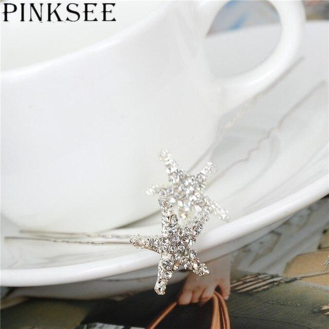 Crystal Star Hair Clips Bridal Wedding Accessories 10