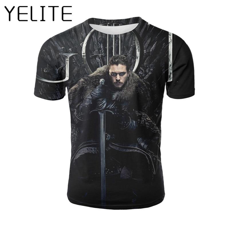 Camiseta Juego de Tronos Camisetas 3D camisa oferta aliexpress