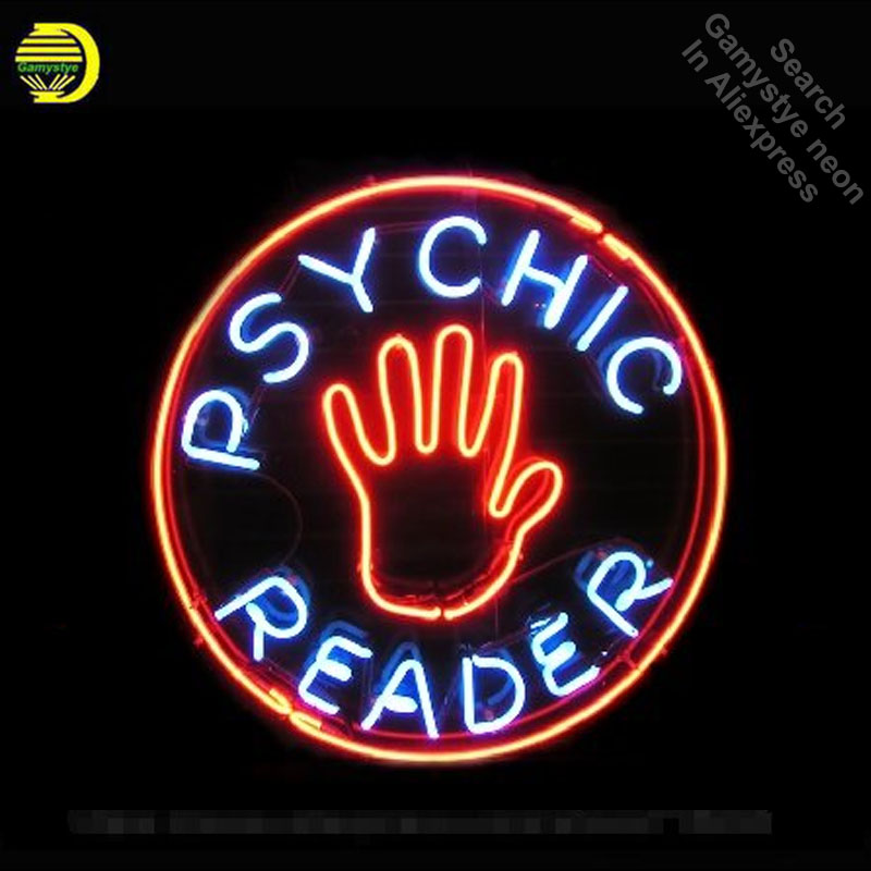 Psychic Reader Neon Sign neon bulb Sign Real Glass Tube neon lights Recreation club Pub Iconic Sign Advertise personalized four colors atari neon sign neon bulb sign glass tube neon light recreation club pub iconic sign advertise arcade lamp wholesale