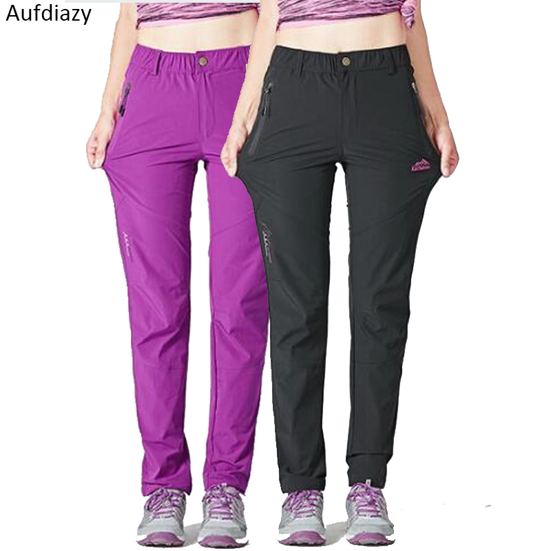 Aufdiazy Women's Summer Quick Dry Camping Hiking Pants Outdoor Sports Trousers For Women Tourism Cycling Trekking Pants JW017