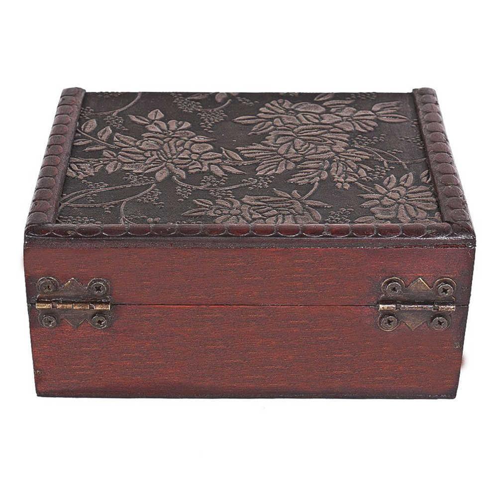 1Pc Antique Treasure ทรวงอกกล่องเก็บของขวัญคอลเลกชันการ์ดกล่อง Makeup Organizer กล่องเครื่องประดับ Treasure Chest กรณีเครื่องประดับ