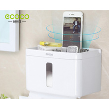 Home Suction Cup Paper Towel Holder Bathroom Tissue Box  Tray Waterproof Toilet