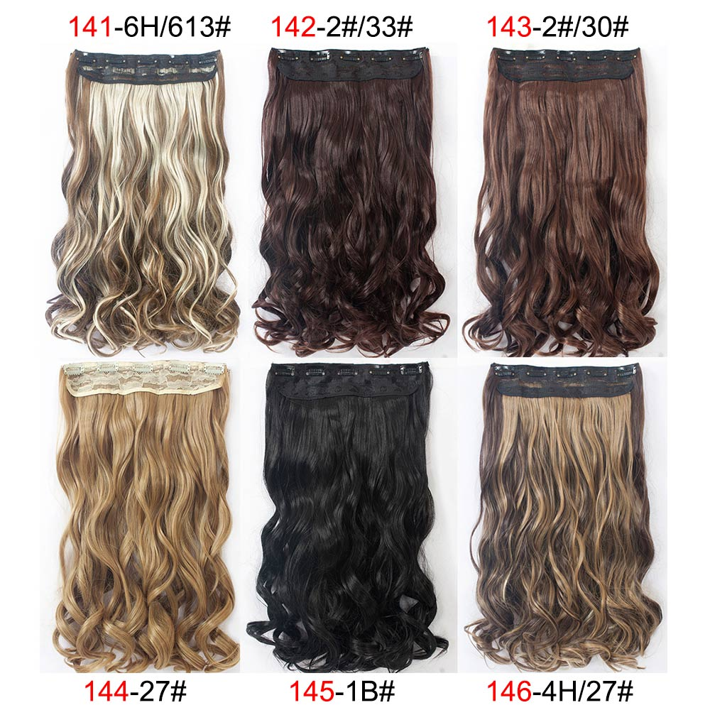 12Style 24inch one Piece Curly Hair Clips in Ombre Tone Dip Dye ...