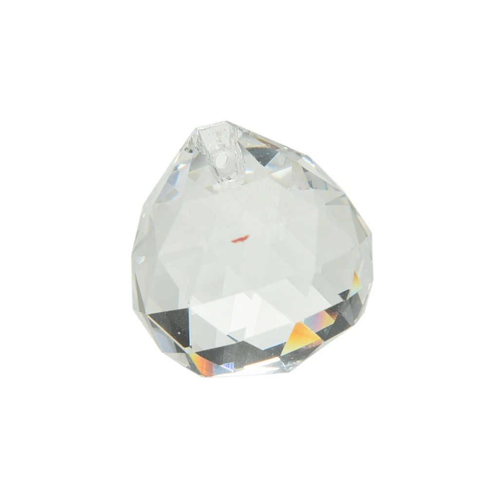 1 pc 30*35mm cristal claro feng shui bola colocado na janela ornamento fazer arco-íris 30x35mm boutique vintage