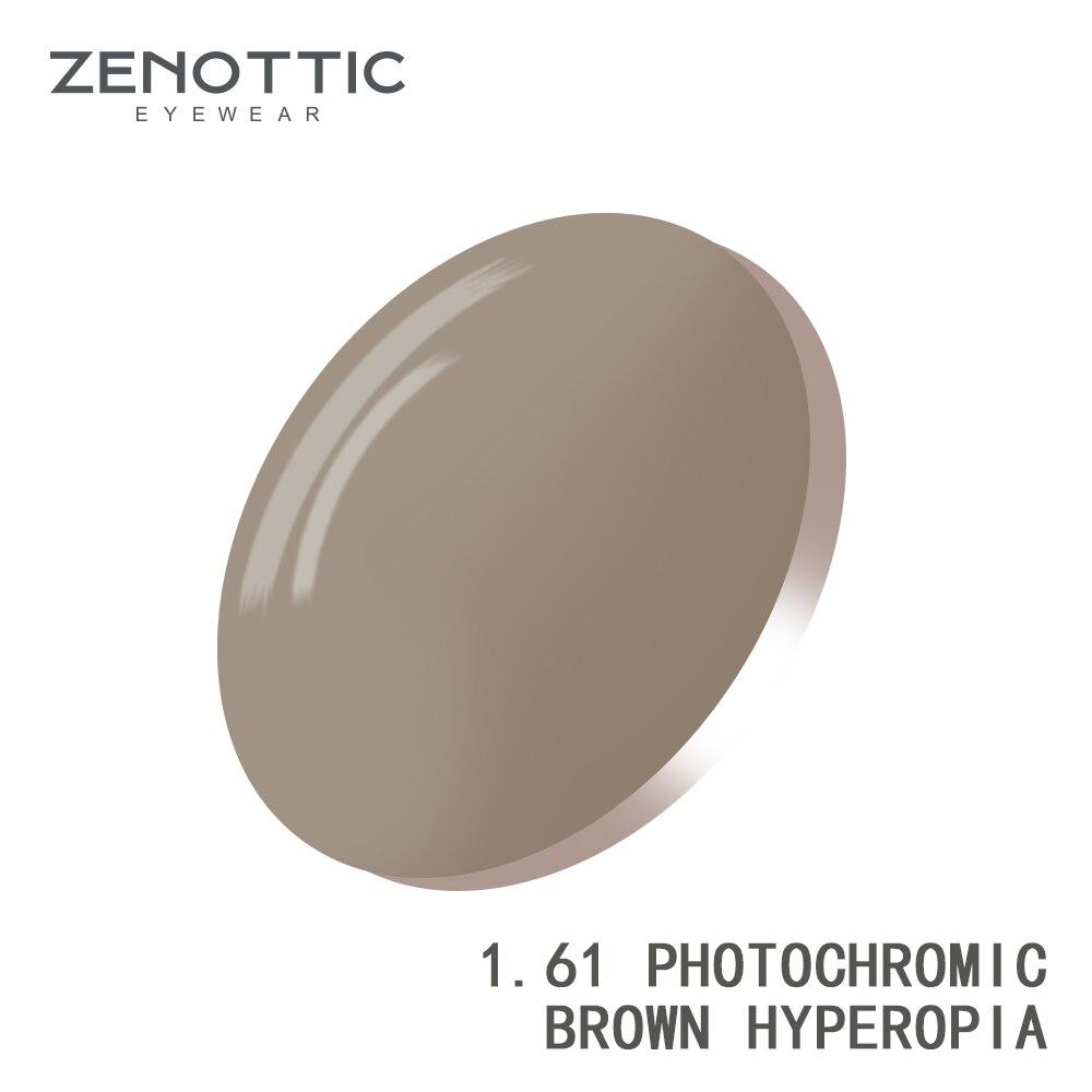 ZENOTTIC Prescription Photochromic Lenses 1.56 1.61 1.67 (+12.00~-12.00) Hyperopia Myopia Photochromic Lenses