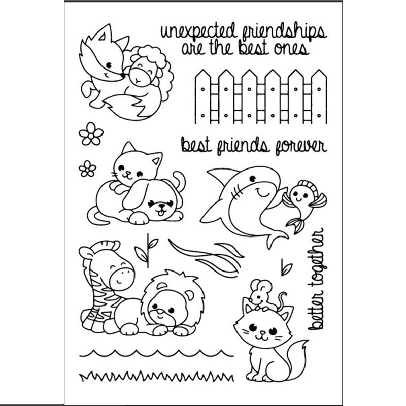 Lovely Animals Transparent Clear Silicone Stamp/seal for DIY Scrapbooking/photo Album Decorative Clear Stamp Sheets. chicken animals transparent clear silicone stamp seal for diy scrapbooking photo album decorative clear stamp sheets a547