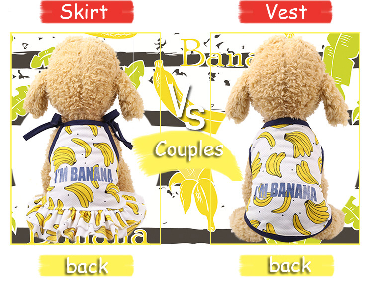 Fruit Print Little Dog Summer Dress (4)