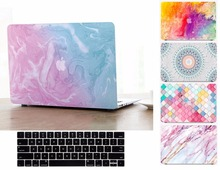 Print Marble Pattern Hard Shell Case Keyboard Cover Skin Set For 11 12 13 15