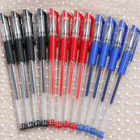 100 Pcs European Standard Neutral Pen Bullet Waterborne Pen Syringe Office Supplies Signature PEN Student Exam Dedicated Gel Pens     -