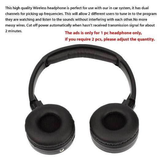 IR Infrared Wireless headphone Stereo Foldable Car Headset Earphone Indoor Outdoor Music Headphones TV headphone 2 headphones 16