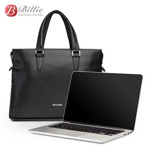 """Image 2 - Сумка для ноутбука, чехол для Macbook Asus Dell 12 """"13"""" 14 """", роскошный подлинный мужской портфель, Высококачественная Сумочка, компьютерные сумки, сумка для ноутбука"""