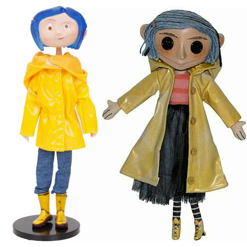 Neca Movie Coraline The Secret Door Raincoat Pvc Action Figures Children S Toys Caroline Girl Christmas Present Action Toy Figures Aliexpress