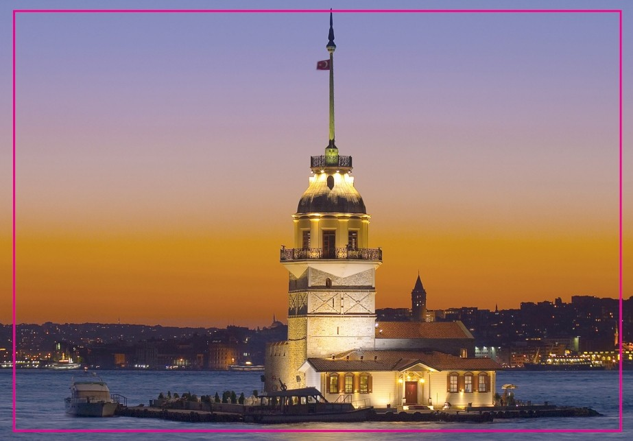 Istanbul mural autocollant City skyline turquie türkiy turkey Kiz Kulesi NEUF