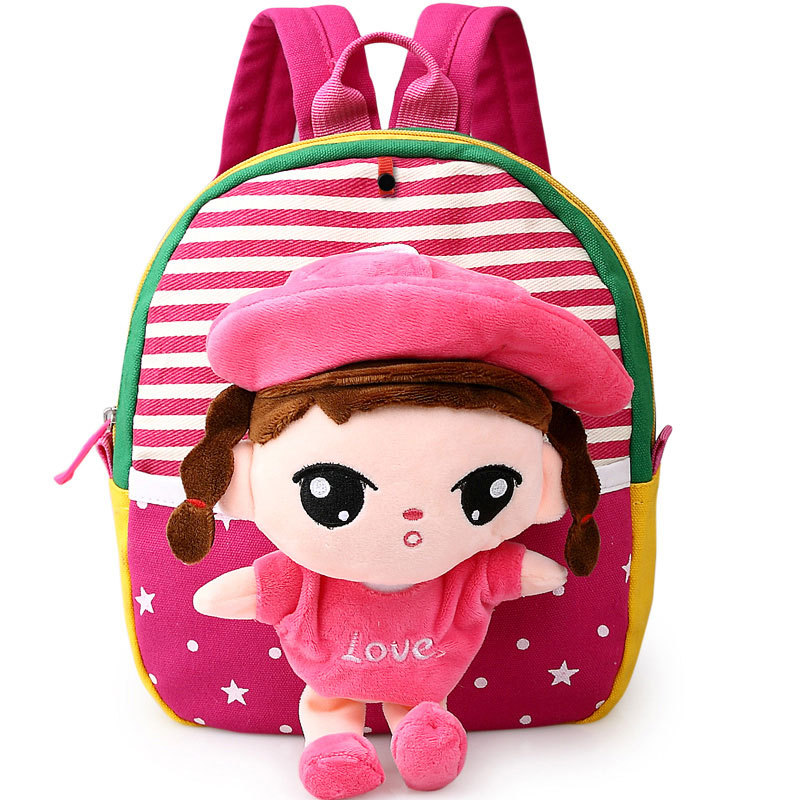 07392d2dba DUDINI Korean Version Of The Cartoon Cute Children s School Bags Animal  Prints Backpack Fashion Young Children Doll Baby Bag-in Backpacks from  Luggage ...