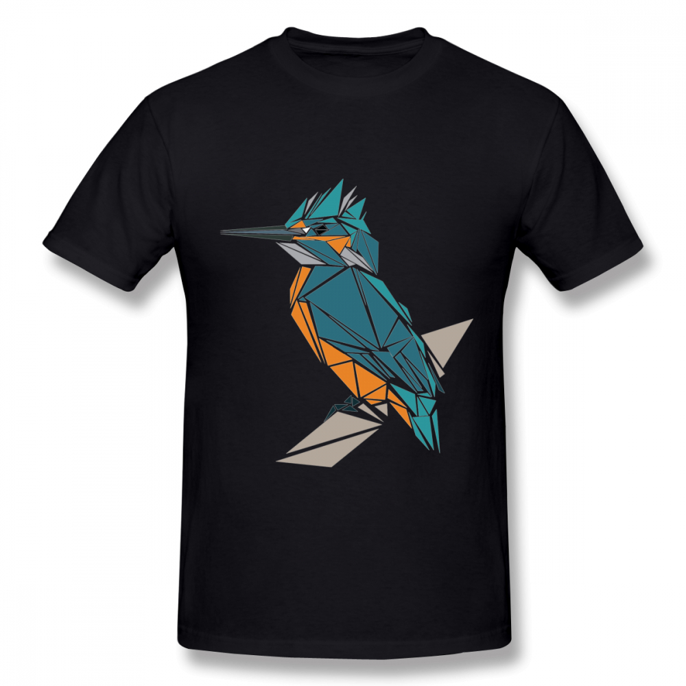 New Custom Triangle Kingfisher Dxvwoafdv1d Tee Shirt Men Geek Unique For Male Graphic Short Sleeve