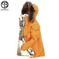 Asesmay 2017 winter down jacket men thick warm men's down jackets M 5XL size winter men parka wellensteyn jacket snow duck coats