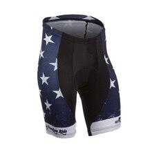 цена на 2016 Star Pattern Black&Blue Cycling Shorts Riding Bicycle Bermuda Ciclismo 3D Padded Coolmax Bike Shorts Cycling Tight Clothing