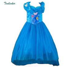 Cinderella Girls Elsa Dress Costumes For Girl Princess Anna Dress Kids Cosplay Dresses Children Party Dresses Vestidos 3-8 Yr summer girl dress elsa dress set baby kids cosplay party dress princess anna dresses elza vestidos infants for children costumes