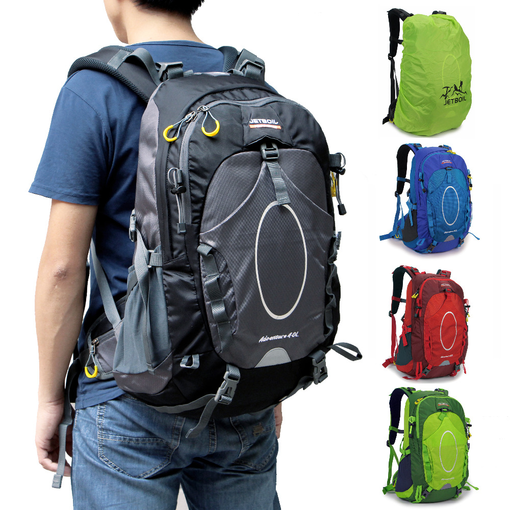 7853ab4873 Waterproof 40L Laptop Military Backpack Rucksack bag internal frame Rain  cover for men women-in Climbing Bags from Sports   Entertainment on  Aliexpress.com ...