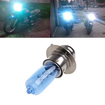New 1 Pc DC 12V 35W White Headlight Bulb Lamp For Motorcycle Electric Vehicles P15D-25-1 image