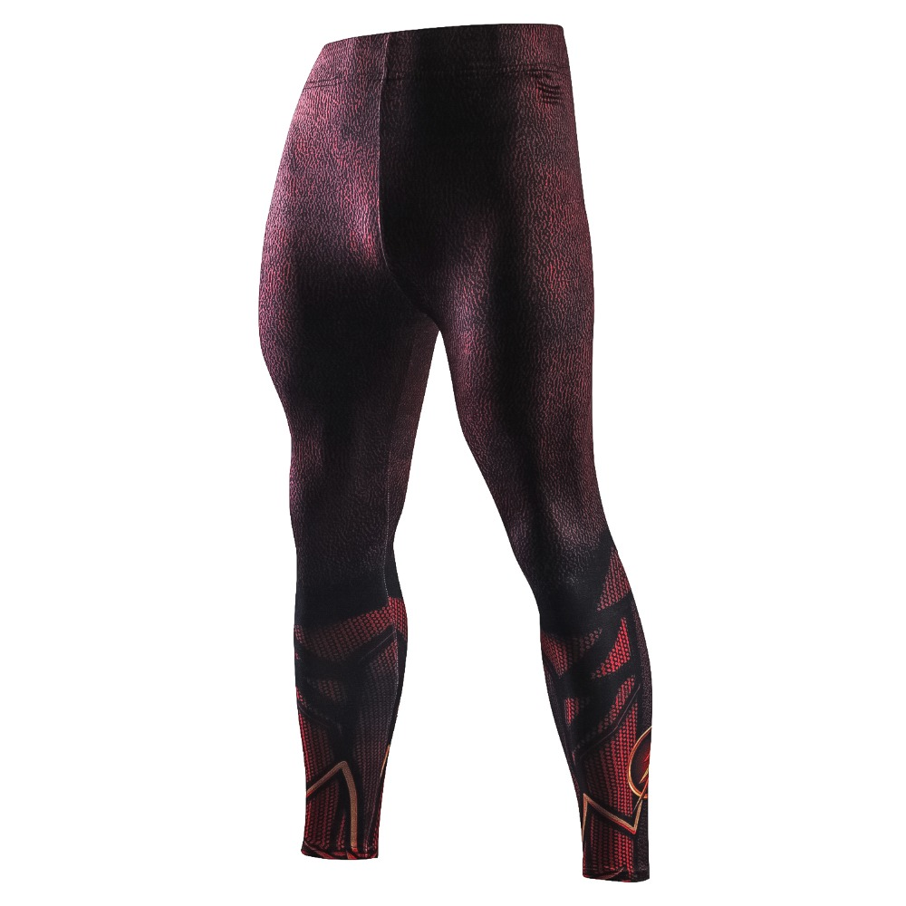 New Skinny Compression Pants Men 3D Print The Flash Casual Leggings Men Tight Exercise Male Trousers Casual Fitness Pants Men