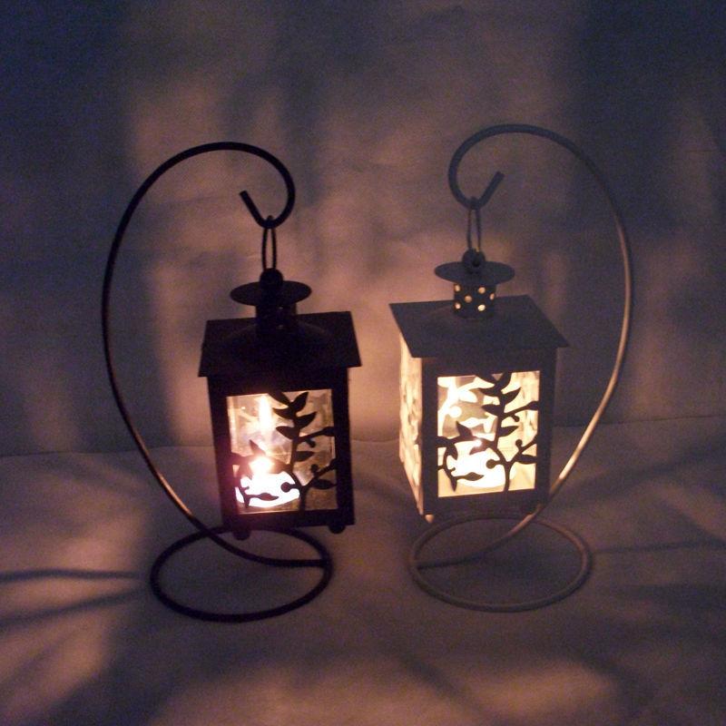 Creative metal european wall hanging votive candle holder for Hanging votive candles